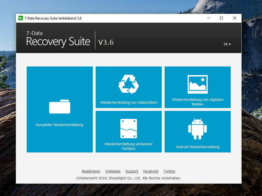 7-data card recovery v1.4 registration code and username