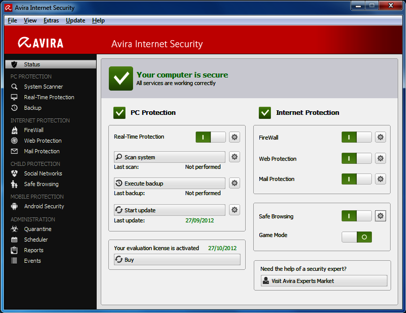 Download Avira Internet Security Suite 2018 key