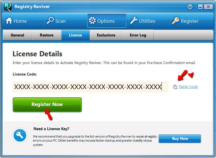 Registry Reviver license Key