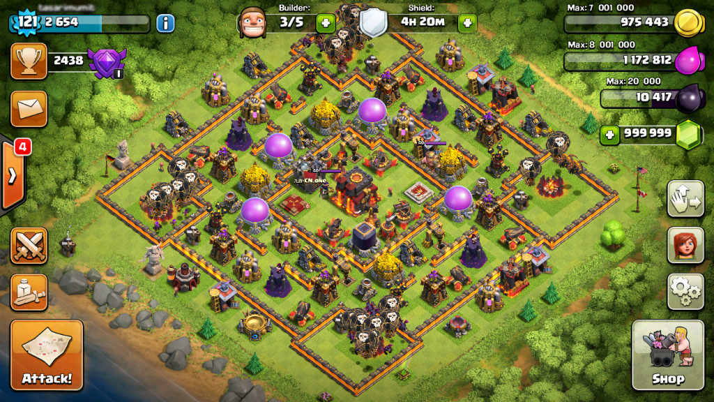 unlimited gold gems in clash of clans