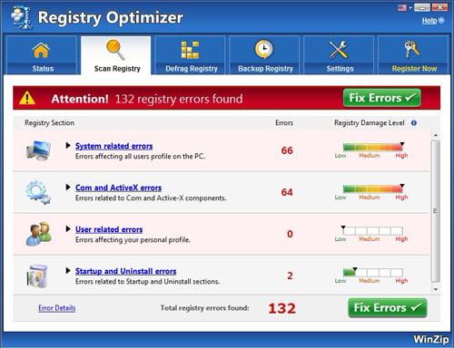 WinZip Registry Optimizer Download Crack